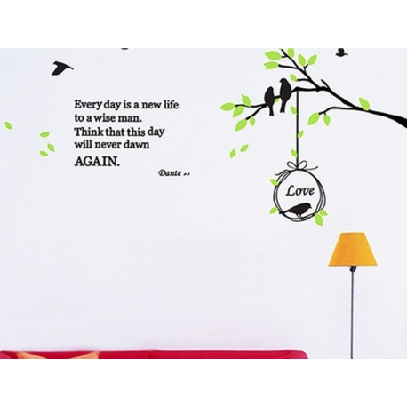 BIRD TREE WALL VINYL DECAL STICKER
