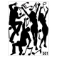 DANCE TO THE MUSIC WALL DECAL VINYL STICKER