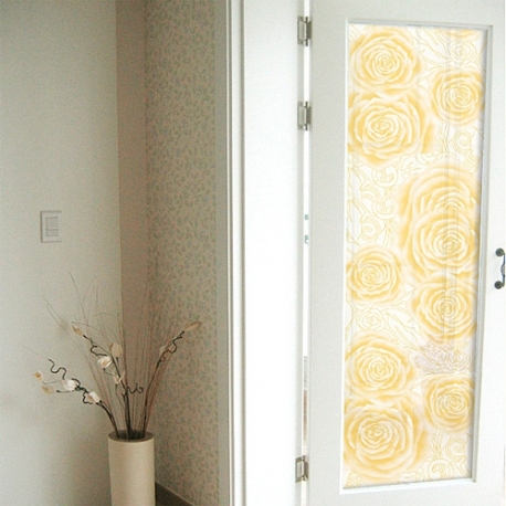 YELLOW ROSE FROSTED WINDOW FILM PRIVACY GLASS 1M/ M