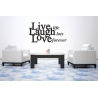 LIVE LIFE LAUGH LOTS LOVE FOREVER WALL VINYL DECAL STICKER LETTERING
