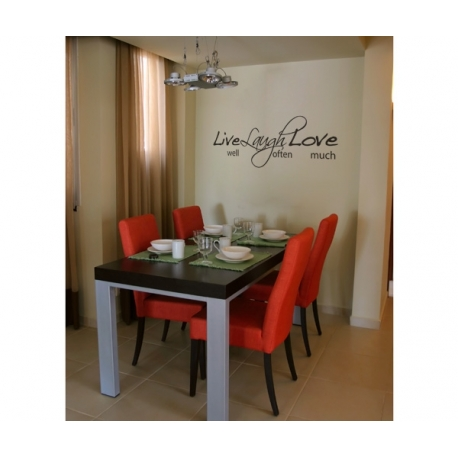 LIVE WELL LAUGH OFTEN LOVE MUCH QUOTE WALL DECAL VINYL LETTERING STICKER