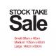 STOCKTAKE SALE RETAIL SHOP WALL SIGN VINYL STICKER DECAL