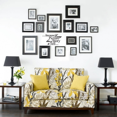EVERY PICTURE HAS A STORY TO TELL QUOTE LETTERING WALL VINYL DECAL