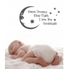 SWEET DREAMS SLEEP TIGHT I LOVE YOU GOODNIGHT WALL DECAL VINYL STICKER