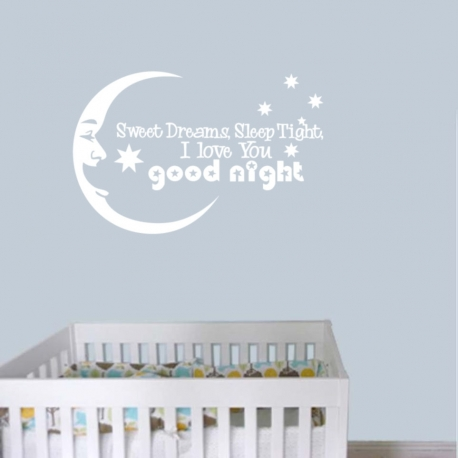SWEET DREAMS LOVE YOU GOODNIGHT SOUTHERN STAR WALL DECAL VINYL STICKER