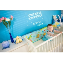 TWINKLE LITTLE STAR WALL DECAL STICKER VINYL QUOTE NURSERY