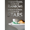 WHEN IT RAINS LOOK FOR RAINBOWS QUOTE WALL DECAL VINYL STICKER