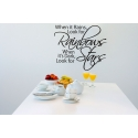 WHEN IT RAINS LOOK FOR RAINBOW QUOTE WALL DECAL VINYL STICKER