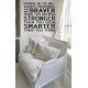 YOU ARE STRONGER BRAVER SMARTER QUOTE WALL DECAL VINYL LETTERING STICKER