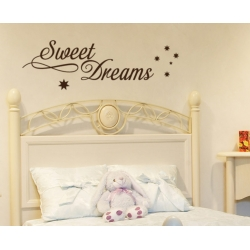 SWEET DREAMS WALL TATTOO Nursery SIGN DECAL VINYL STICKER