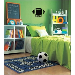 RUGBY BALL KIDS CUSTOM PERSONALIZED NAME VINYL DECAL STICKER
