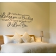 IF I HAD TO CHOOSE BETWEEN LOVING YOU WALL DECAL