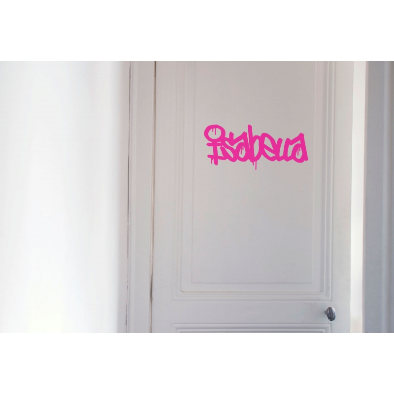 GRAFFITI PERSONALISED NAME WALL DOOR CUSTOM VINYL DECALS STICKER - Graffiti custom vinyl stickers