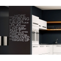 HOPE STRONG LAUGH PLAY LIVE SMILE DREAM LOVED QUOTE WALL VINYL DECAL