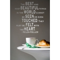 HELEN KELLER BEST BEAUTIFUL FELT WITH THE HE QUOTE WALL VINYL DECAL