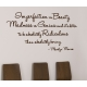 IMPERFECTION IS BEAUTY, MADNESS IS GENIUS WALL VINYL DECAL STICKER