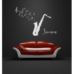 JAZZ MUSIC SAXOPHONE WALL ART VINYL DECAL STICKER