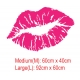 Lips KISS ME TONIGHT LOVELY LOVE WALL DECAL VINYL STICKER