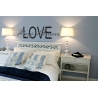 LOVE ALWAYS AND FOREVER QUOTE WALL VINYL DECAL BEDROOM LIVINGROOM KIDS ROOM