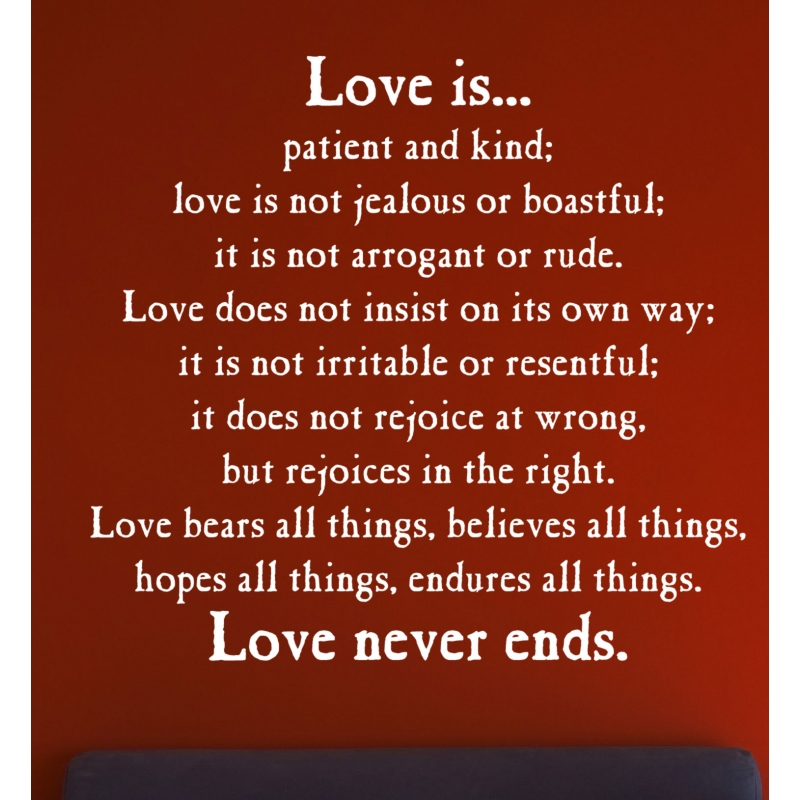 LOVE IS PATIENT KIND PROTECT TRUST HOPE WALL ART VINYL DECAL LETTERING BIBLE ...  sc 1 st  OZDECO & LOVE IS PATIENT KIND PROTECT TRUST HOPE WALL ART VINYL DECAL ...