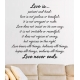 LOVE IS PATIENT KIND PROTECT TRUST HOPE WALL ART VINYL DECAL LETTERING BIBLE