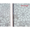 1M/1.3M WHITE FLOWER BLOOM PATTERN FROSTED PRIVACY WINDOW FILM
