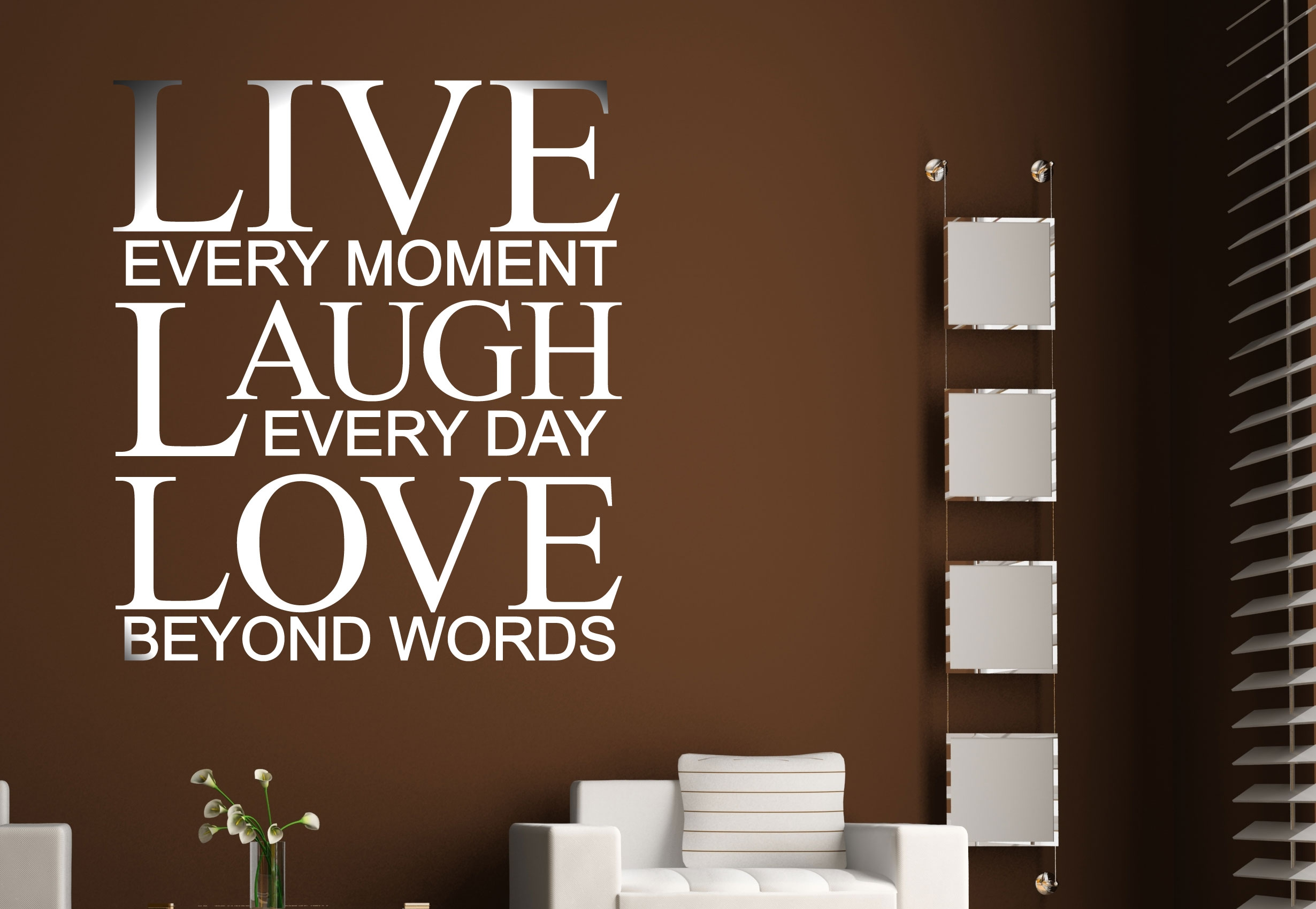 Love Quotes Wall Decals Live Every Moment Laugh Every Day Love Quote Wall Decal Vinyl