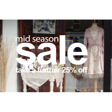 MID SEASON SALE TAKE A FURTHER OFF RETAIL SHOP WALL WINDOW SIGN VINYL DECAL