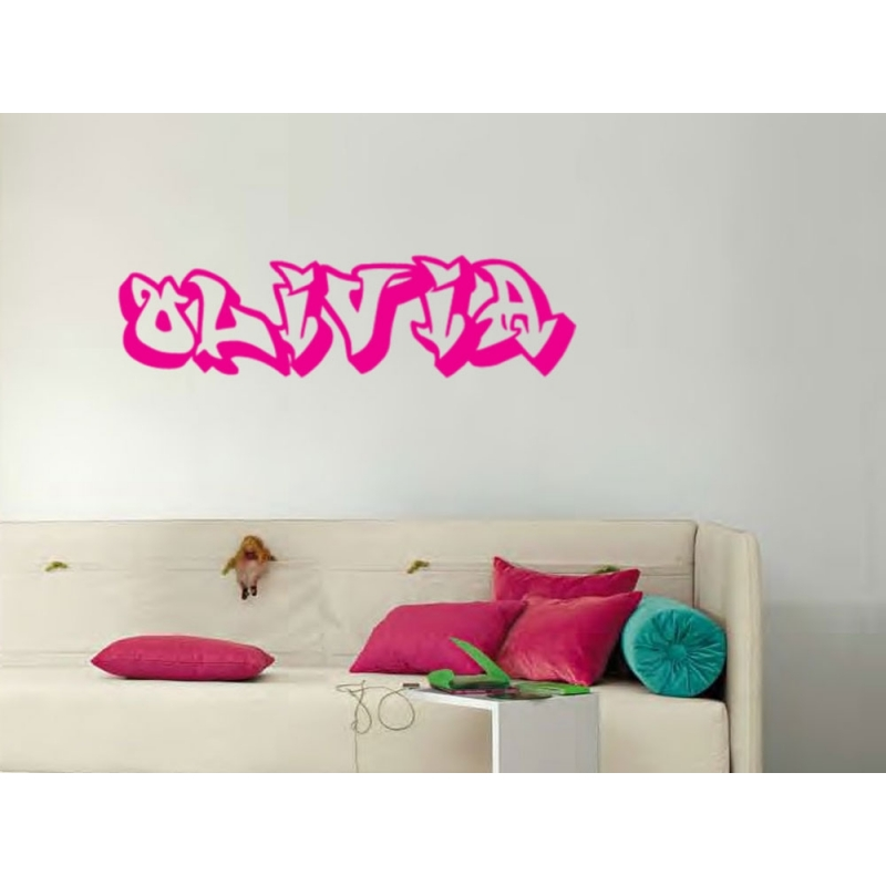 GRAFFITI PERSONALISED NAME ART WALL DOOR CUSTOM VINYL DECALS - Custom vinyl wall decals graffiti