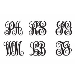 2 LETTERS VINE CUSTOM CURLY MONOGRAM PERSONALIZED SYMBOL WEDDING LOGO WALL DECAL