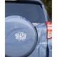 CAR BOAT 3 LETTERS VINE CUSTOM CURLY MONOGRAM PERSONALIZED SYMBOL WEDDING LOGO DECAL