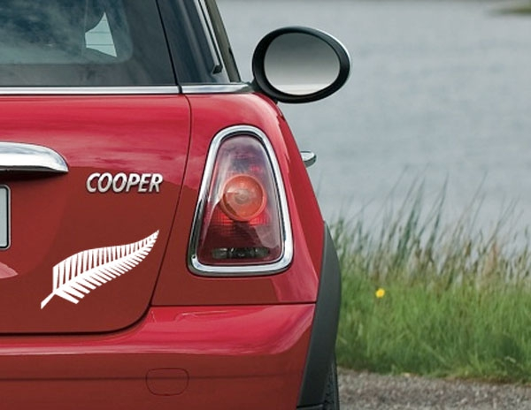 SILVER FERN TREE NEW ZEALAND KIWI SYMBOL VINYL DECAL CAR BOAT - Vinyl decal car nz