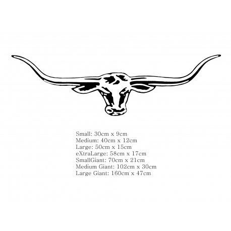 RMW LONGHORN VINYL STICKER / DECAL FOR CAR BOAT AUSSIE SYMBOL TATTOO