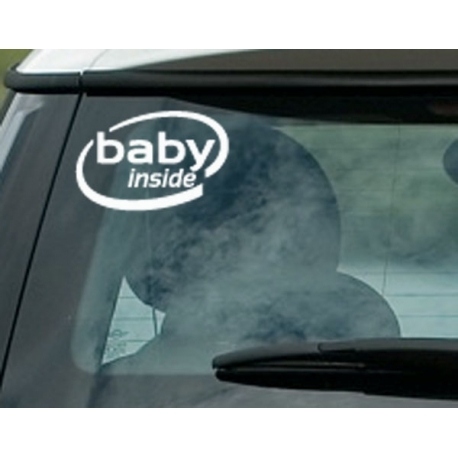 BABY INSIDE CAR VINYL STICKER DECAL TATTOO