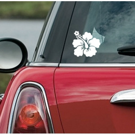 HAWAIIAN HIBISCUS FLOWER CAR BOAT LAPTOP TATTOO VINYL DECAL