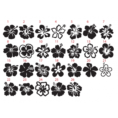 Hawaiian Hibiscus Flower Car Boat Laptop Tattoo Vinyl Decal