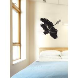 HAWAIIAN HIBISCUS FLOWER WALL WINDOW ART TATTOO VINYL DECAL STICKER REMOVABLE