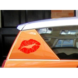 SEXY LUSCIOUS EROTIC KISSING LIPS CAR BOAT LAPTOP TATTOO VINYL DECAL STICKER