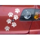 PAW PRINT ANIMAL DOG BEAR CAR BOAT LAPTOP TATTOO VINYL DECAL STICKER