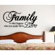 FAMILY IS WHAT HAPPENS WHEN TWO PEOPLE FALL IN LOVE WALL VINYL DECAL STICKER
