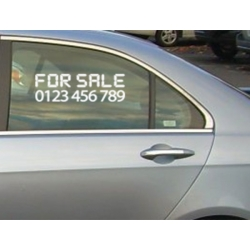 CUSTOM FOR SALE PHONE NUMBER AD CAR WINDOW BOAT VINYL DECAL STICKER