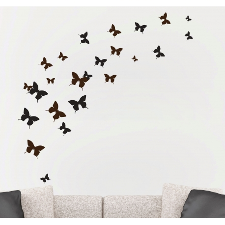 FREE AS A BUTTERFLY IN SKY WALL TATTOO VINYL DECAL MURAL STICKER