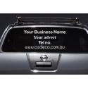 CUSTOM CAR ADVERT Ph WEBSITE VINYL DECAL LETTERING SIGN STICKER