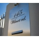 MAIL BOX FRONT DOOR WALL CUSTOM STICKER HOUSE NUMBER STREET NAME DECAL