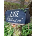 MAILBOX FRONT DOOR WALL CUSTOM STICKER HOUSE NUMBER STREET NAME DECAL