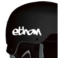 3X PERSONALIZED CUSTOM NAME DECAL BIKE BICYCLE MOTORCYCLE SNOWBOARDING HELMET STICKERS