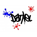 GRAFFITI SPLASHES PERSONALISED NAME WALL DOOR CUSTOM VINYL DECAL STICKER