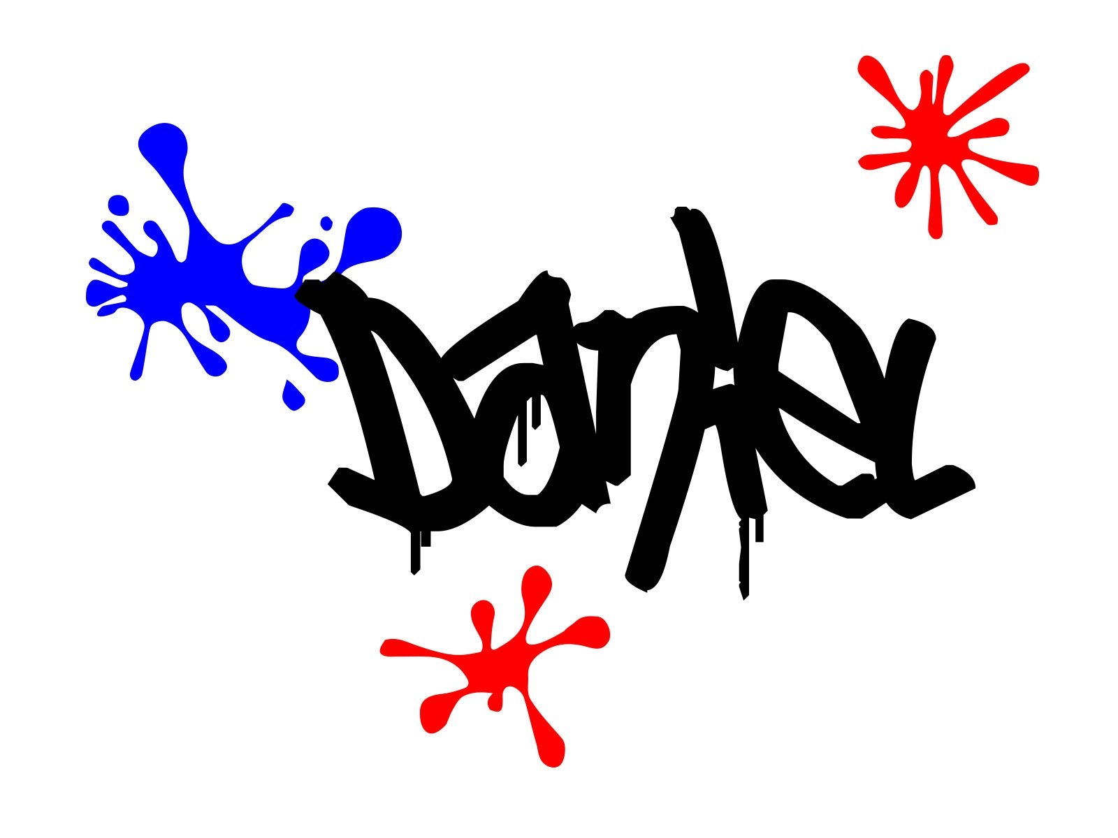 Graffiti splashes personalised name wall door custom vinyl decal sticker