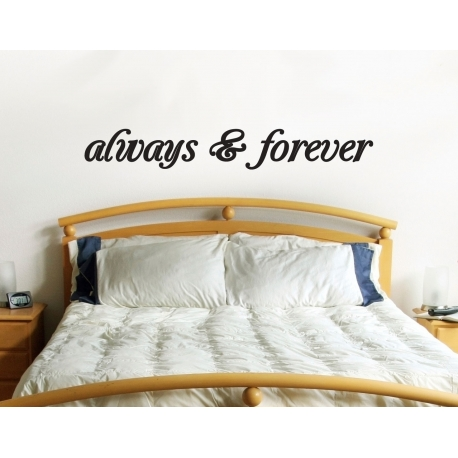 ALWAYS AND FOREVER LOVE FEATURED WALL VINYL DECAL STICKER