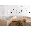 FLOCK OF SWALLOWS BIRDS WALL ART VINYL DECAL STICKER